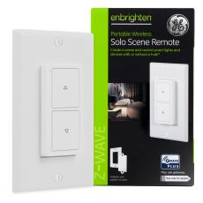 GE Enbrighten Z-Wave In-Wall Portable Solo Scene Remote, White