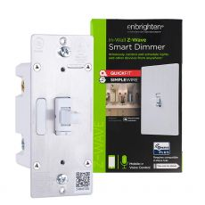 GE Enbrighten Z-Wave In-Wall Smart Toggle Dimmer with QuickFit™ And SimpleWire™, White