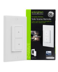 GE Enbrighten Z-Wave In-Wall Portable Solo Scene Remote, White