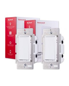 Honeywell Z-Wave In-Wall Smart Switch, 2 Pack, White