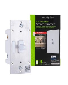 GE Enbrighten Z-Wave Plus Smart Dimmer With QuickFit™ And SimpleWire™ Toggle, White