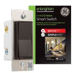 GE Enbrighten Z-Wave In-Wall Smart Switch with QuickFit™ and SimpleWire™, Brown