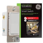 GE Enbrighten Z-Wave In-Wall Smart Switch with QuickFit™ and SimpleWire™, White